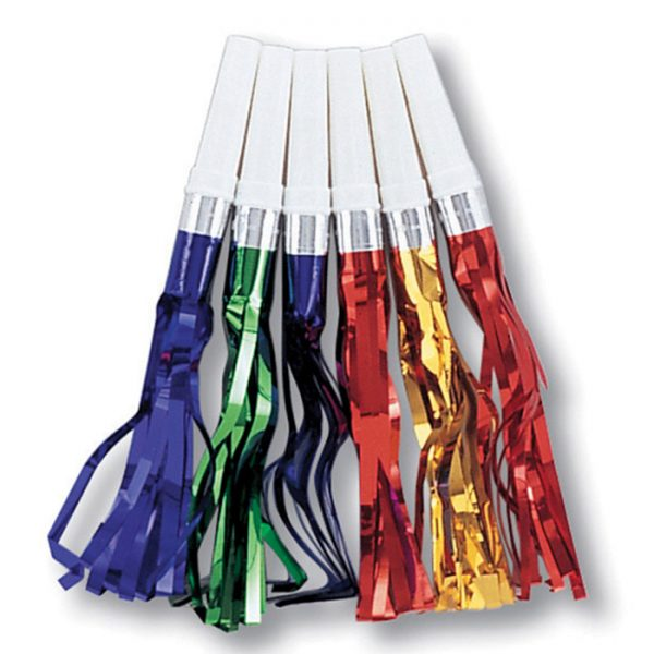 Fringed Party Noisemakers, Asst Colors 144ct