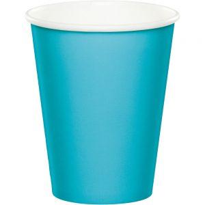 Bermuda Blue Paper Hot/Cold Cups 9Oz 240 Ct