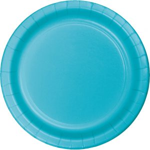 "Bermuda Blue Paper Lunch Plates 9"" 240 Ct"