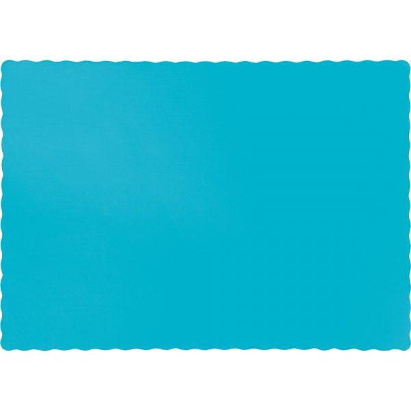 Bermuda Blue Paper Placemats 600 Ct