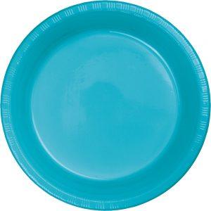 """Bermuda Blue Plastic Dessert Plates 7"""" 240 Ct"""