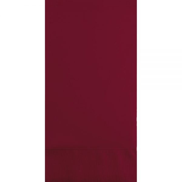 Burgundy Guest Towels 3Ply 192 Ct