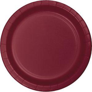 Burgundy Party Tableware