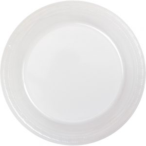 "Clear 7"" Lunch Plate, Plastic Bulk 600ct"