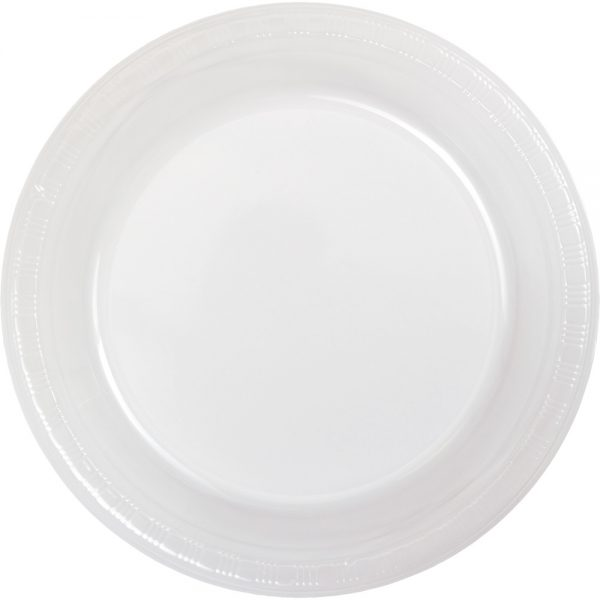 """Clear 7"""" Lunch Plate, Plastic Bulk 600ct"""