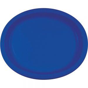 "Cobalt Paper Oval Platter 10"" X 12"" 96 Ct"