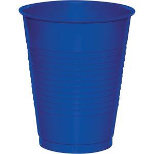 Cobalt Plastic Cups 16 Oz. 240 Ct