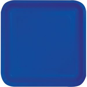 "Cobalt Paper Lunch Plates 9"" Square 180 Ct"
