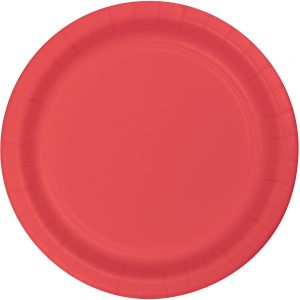 "Coral Paper Dessert Plates 7"" 240 Ct"