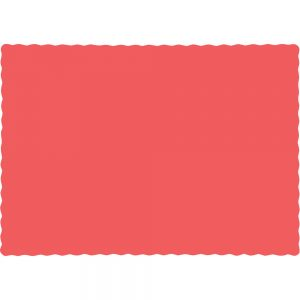 Coral Paper Placemats 600 Ct