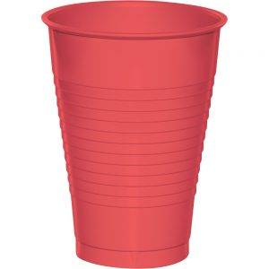 Coral Plastic Cups 12 Oz. 240 Ct