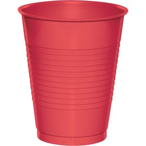 Coral Plastic Cups 16 Oz. 240 Ct