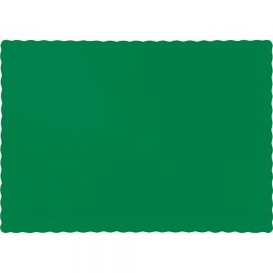 Emerald Green Paper Placemats 600 Ct