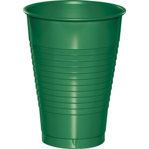 Emerald Green Plastic Cups 12 Oz. 240 Ct