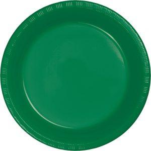 "Emerald Green Plastic Dessert Plates 7"" 240 Ct"