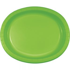 "Fresh Lime Paper Oval Platter 10"" X 12"" 96 Ct"