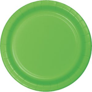 "Fresh Lime Paper Dessert Plates 7"" 240 Ct"
