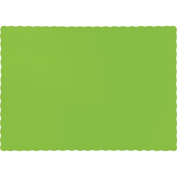 Fresh Lime Paper Placemats 600 Ct