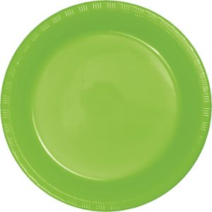 "Fresh Lime Plastic Lunch Plates 9"" 240 Ct"