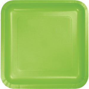 "Fresh Lime Paper Dessert Plates 7"" Square 180 Ct"