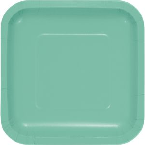 Mint-green-square-paper-plate