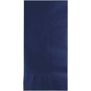 Navy Dinner Napkins 2Ply 1/8Fld 600 Ct