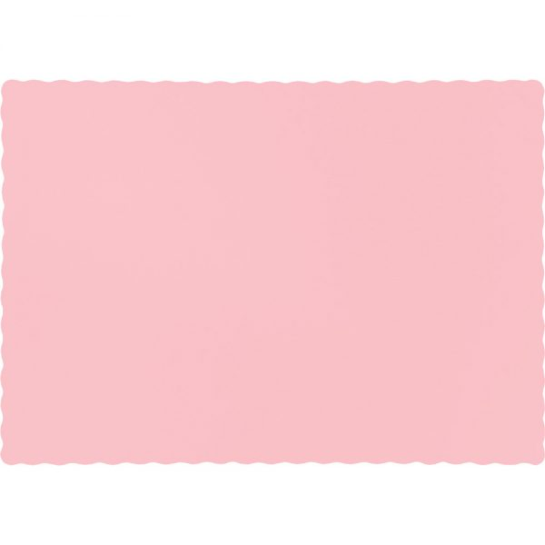 Classic Pink Paper Placemats 600 Ct