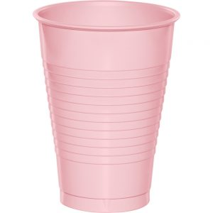 Classic Pink Plastic Cups 12 Oz. 240 Ct