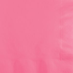 Candy Pink Beverage Napkins 2Ply 600 Ct