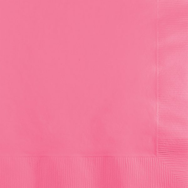 Candy Pink Dinner Napkins 3Ply 1/4Fld 250 Ct