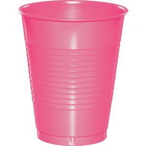 Candy Pink Plastic Cups 16 Oz. 240 Ct