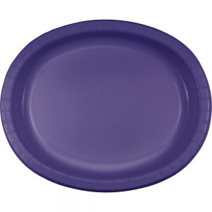 "Purple Paper Oval Platter 10"" X 12"" 96 Ct"