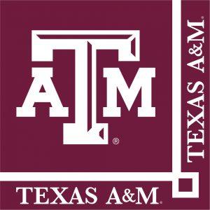 Texas A & M University Beverage Napkin 240 Ct