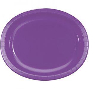 "Amethyst Paper Oval Platters 10"" X 12"" 96 Ct"