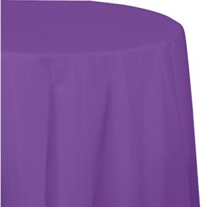 """Amethyst Tablecovers, Octy Round 82"""" 12 Ct"""