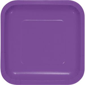 "Amethyst Paper Lunch Plates 9"" Square 180 Ct"