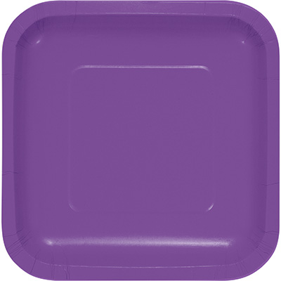 """Amethyst Paper Lunch Plates 9"""" Square 180 Ct"""