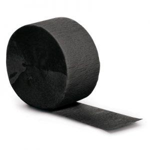 Black Velvet Crepe Streamers 500' 12 Ct