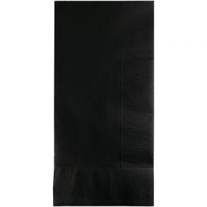 Black Velvet Dinner Napkins 2Ply 1/8Fld 600 Ct