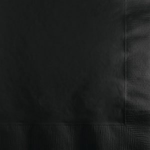 Black Velvet Dinner Napkins 3Ply 1/4Fld 250 Ct