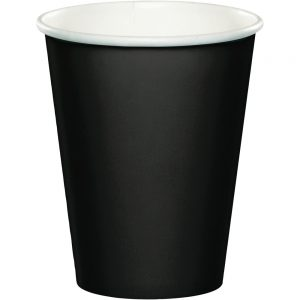 Black Velvet Paper Hot/Cold Cups 9Oz 240 Ct