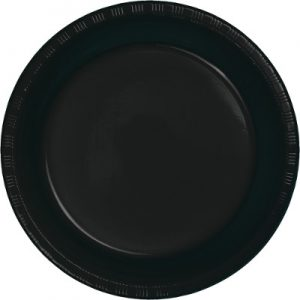 """Black Velvet Plastic Dinner Plates 10.25"""" 240 Ct"""