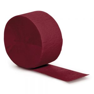 Burgundy Crepe Streamers 81' 12 Ct