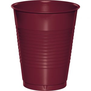 Burgundy Plastic Cups 16 Oz. 240 Ct