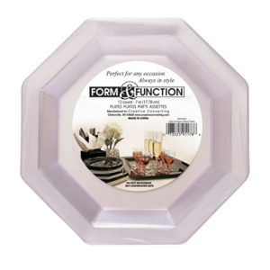 """Form & Function - Clear 7"""" Lunch Plates, Plastic Octagonal 72ct"""