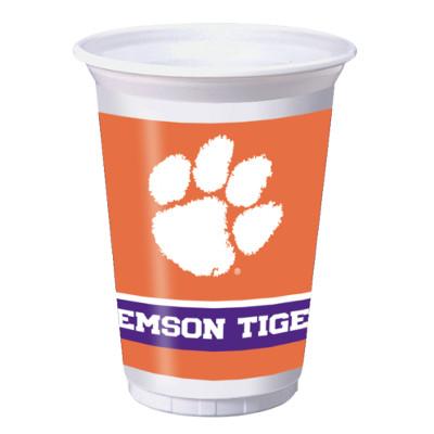 Clemson University 20 oz Plastic Cups 96 Ct