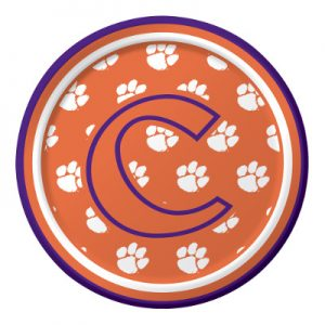 Clemson University Luncheon Plate 96 Ct