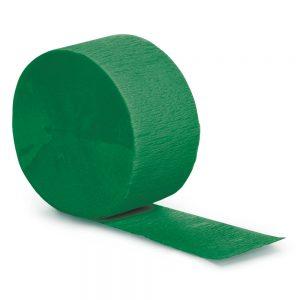 Emerald Green Crepe Streamers 500' 12 Ct