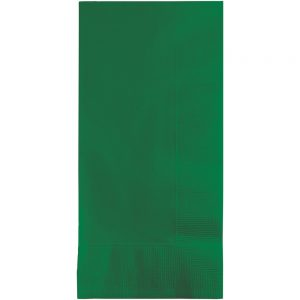 Emerald Green Dinner Napkins 2Ply 1/8Fld 600 Ct