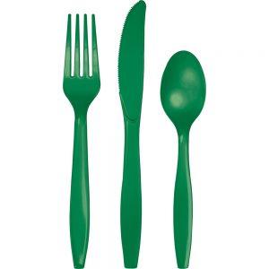 Emerald Green Premium Cutlery Asst 288 Ct